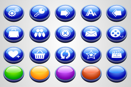website and internet icons Round Perspective series  Vector