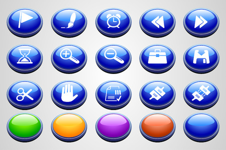 circularity: Toolbar and Interface icons  Round Perspective series