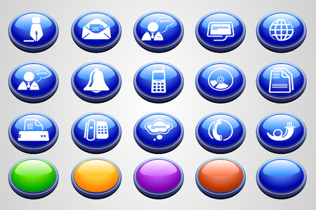 Communication icons  Round Perspective series  Vector