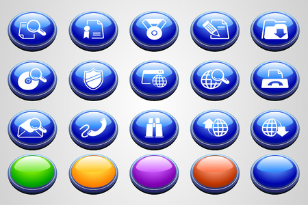 Internet icons  Round Perspective series  Vector
