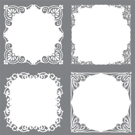 bookplate: decorative frame set