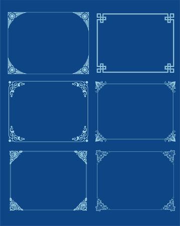 decorative frame set Vector