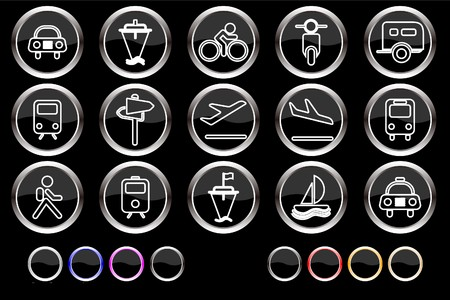 Transportation and Vehicle icons  Vector