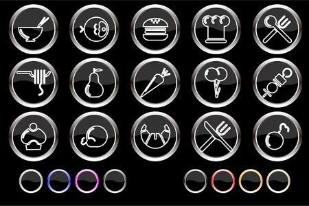 gradual: Iconos de alimentos & Restaurant