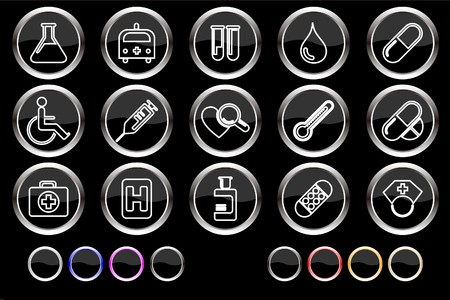 circularity: Healthcare and Pharma icons Illustration