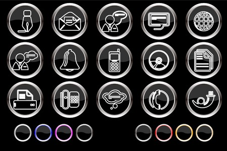 Communication icons Stock Vector - 7886818