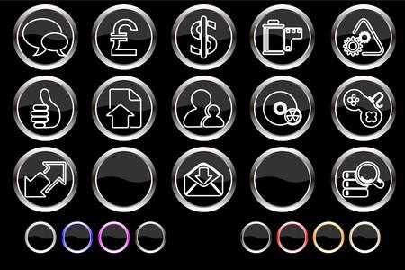 Internet icons Stock Vector - 7886813