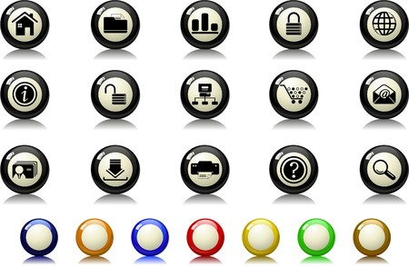 website and internet icons Billiards  series