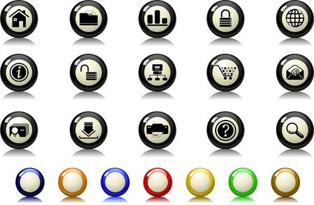 website en internet pictogrammen Biljart serie