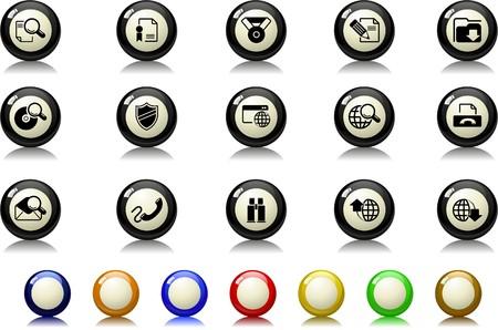 Internet icons Billiards  series Vector