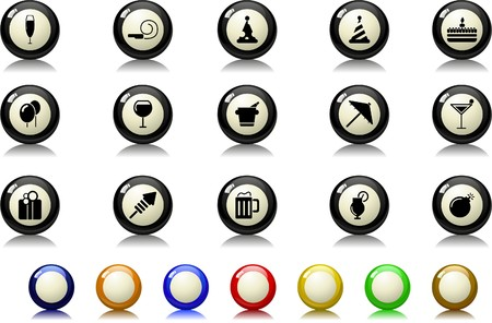 Party and Celebration icons  Billiards  series Stock Vector - 7886835