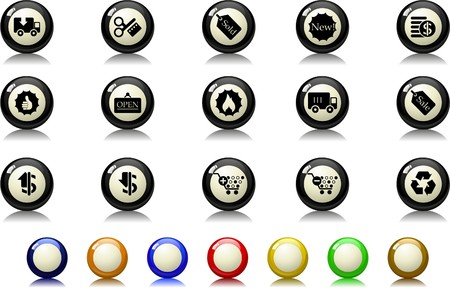 Sale and Shopping icons  Billiards  series Vector