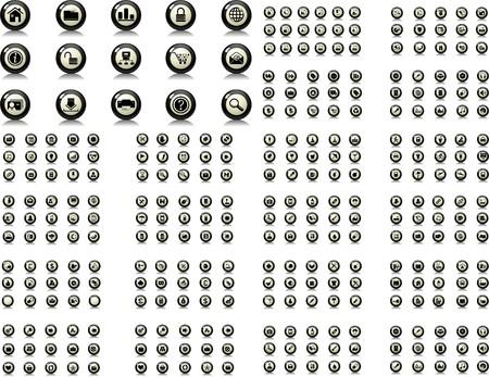 toolbar: set di icone isolato su sfondo bianco