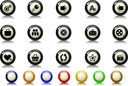 website and internet icons Billiards  series Vector