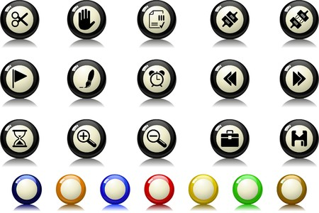 circularity: Toolbar and Interface icons Billiards  series