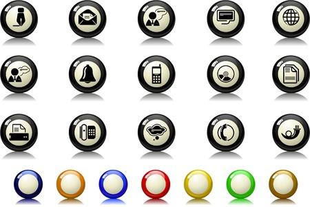 Icônes de communication série de billard