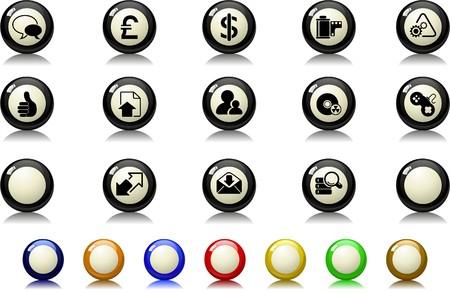 newsfeed: Internet icons Billiards  series Illustration