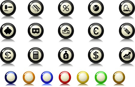 Finance and Banking icons Billiards  series Vector