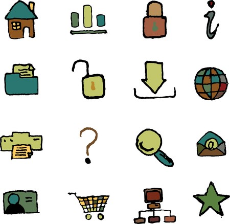 website and internet icons  isolated Vector