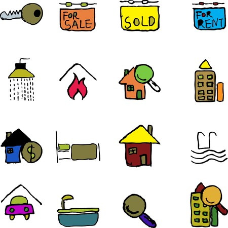 circularity: Real Estate icons  isolated Illustration