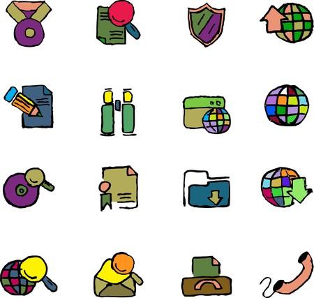 rectangluar: Internet icons  isolated Illustration