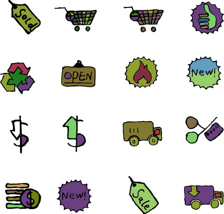 circularity: Sale and Shopping icons  isolated
