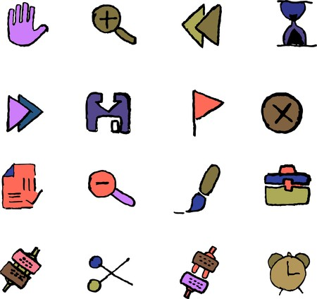 toolbar: Toolbar and Interface icons  isolated Illustration