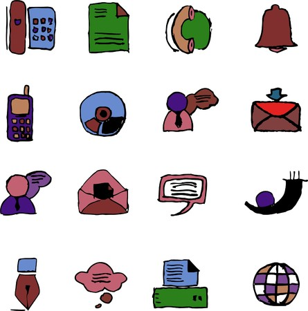 Communication icons  isolated  Stock Vector - 7886784
