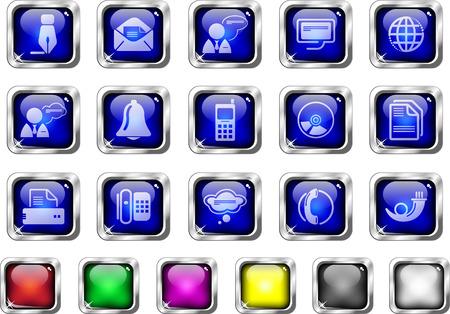 circularity: Communication icons Illustration