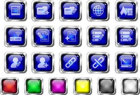 Database and Network icons Stock Vector - 7930704