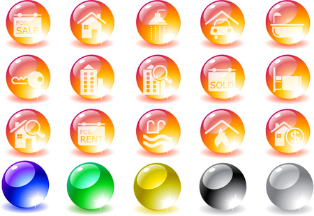 Real Estate icons Stock Vector - 7930689