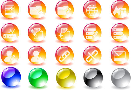 Database and Network icons Stock Vector - 7930687