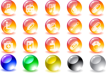 Healthcare and Pharma icons Vector
