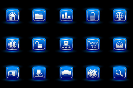 website and internet icons blue light series Vector