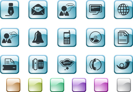Communication icons   Stock Vector - 7930744