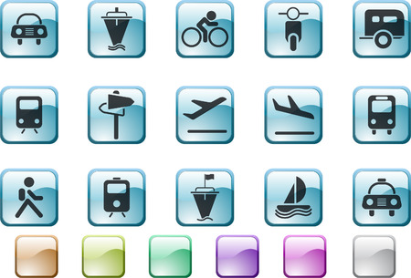 circularity: Transportation and Vehicle icons