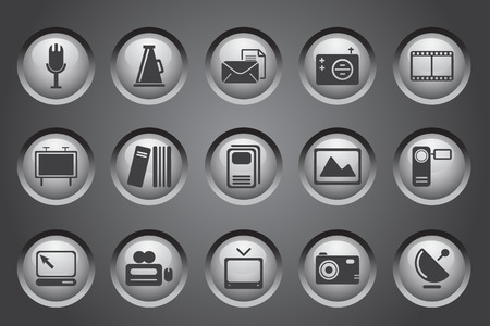 Iconos de publicaciones y medios  Foto de archivo - 7930759