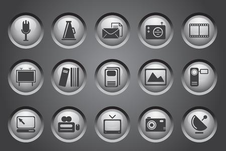 Media en Publishing pictogrammen