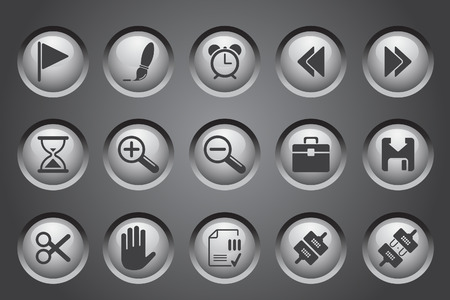 toolbar: Toolbar and Interface icons   Illustration