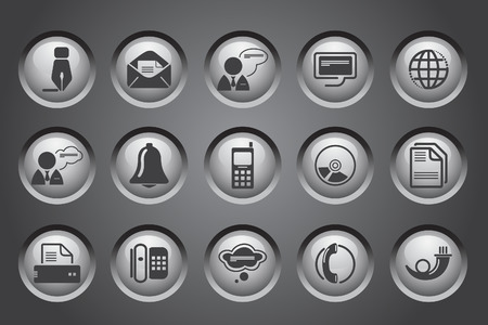 rectangluar: Communication icons