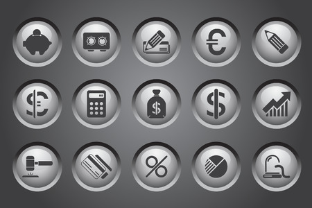 Finance and Banking icons Stock Vector - 7930762