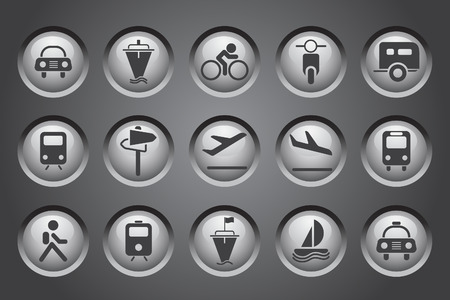rectangluar: Transportation and Vehicle icons