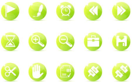 toolbar: Icone sulla barra degli strumenti e interfaccia   Vettoriali