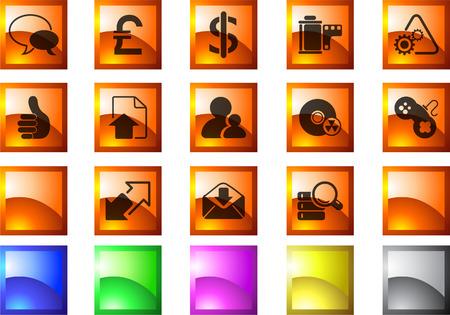 rectangluar: Internet  icons