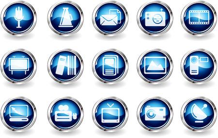 circularity: Media and Publishing icons   Illustration