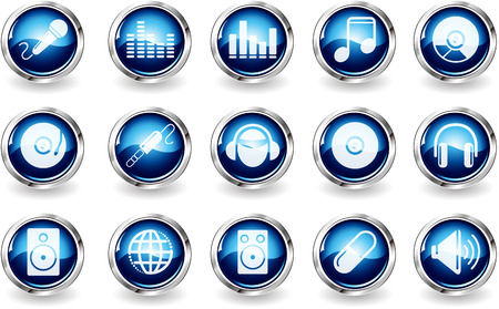 Music and Dance icons Vector