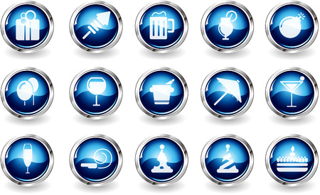 Party and Celebration icons  Vector