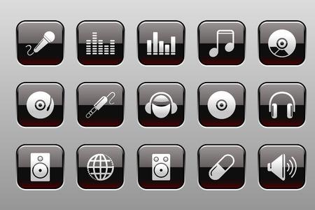 rectangluar: Music and Dance icons