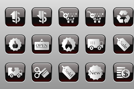 open flame: Sale and Shopping icons