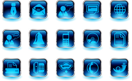 Communication icons   Stock Vector - 7930826